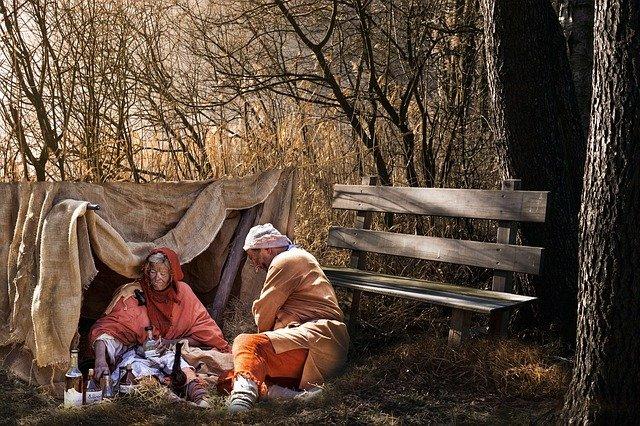 příbytek bezdomovců
