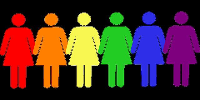 barevné postavičky žen