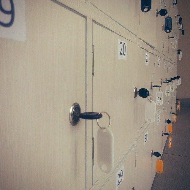 klíčky u skříněk