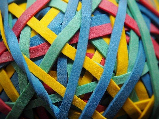 barevné gumičky
