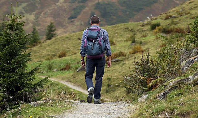 muž na vandru