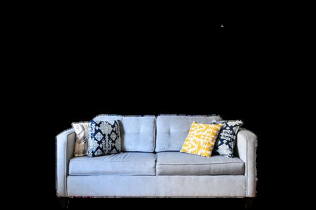 šedý gauč